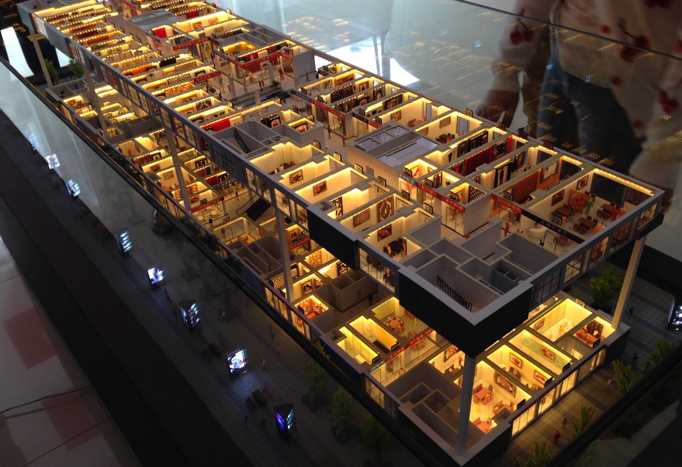 重庆建筑商业沙盘模型,