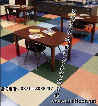云南幼儿园地板、云南塑胶地板、云南PVC地板